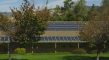 Solar Panels At City Hall In Ashland, Oregon