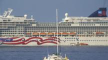 Large Cruise Ship Off Kona Harbor