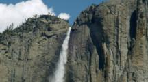 Yosemite Falls Tumbles Down Granite Face