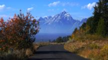 View Of Tetons From Road On Signal Mountain