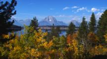 Mt Moran In Fall Near Jackson Lake