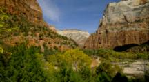 Views Of Sandstone Cliffs In Zion