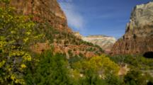 Views Of Sandstone Cliffs In Zion
