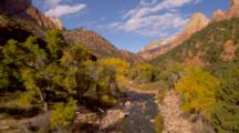Overlook View Of Virgin River And Autumn Trees