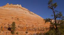 Barren Landscape With Sandstone Formations