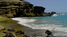 Scenery At Papakolea Green Sand Beach Near South Point, Big Island