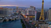 Las Vegas, Overlook Of Bellagio Hotel Fountain And The Strip