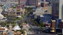 View Of Las Vegas Strip And Bellagio Hotel Fountain From Cosmopolitan Hotel