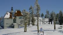 Ski Resort And Chair Lift At Mt. Ashland