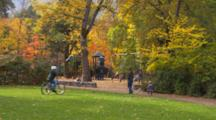 Children Playing In Lithia Park, Ashland, Oregon