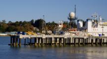 Coast Guard Ship In Newport, Oregon Harbor