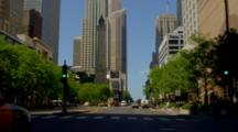 POV Driving In Chicago, Possibly Up Michigan Avenue