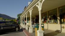 Sidewalk In Jackson Wyoming Town Square