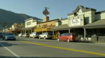 Main Street, Storefronts Of Town Square, Jackson Wyoming