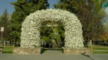 Antler Arches In Jackson Wyoming Town Square