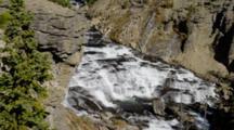Rushing Water In Lewis Canyon In Yellowstone