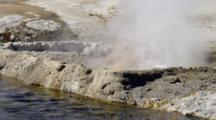 Close Up Bubbling Pool, Hot Springs By Old Faithful Area, Black Sands Basin, Yellowstone