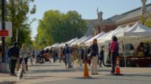 People shop At Farmers Market In Washington Dc Area