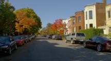 Cars And People On Residential Streets By Washington DC Capital Building