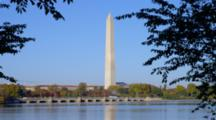 View Of Washington Monument Across Potomac River, Washington Dc