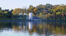 Looking Across Water At Martin Luther King Memorial, Washington Dc