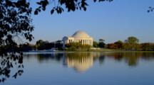 Jefferson Memorial Reflected In River, Washington Dc