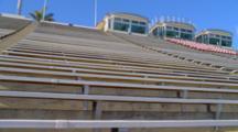 Looking Up At Bleachers, Football Field At Santa Barbara City College