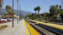 Train Tracks, Station In Santa Barbara, California