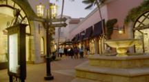 Downtown Shopping Mall Area, Santa Barbara, Evening