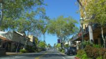 Driving POV Downtown Santa Barbara, California