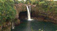 Waterfalls Empty Into Pool, Hilo, Hawaii