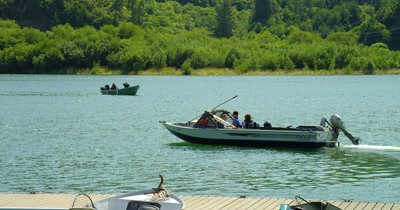 Recreational Fishing Boats Near Rogue River Bridge,Gold Beach,Oregon