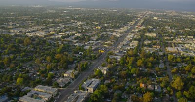 Aerial Over Los Angeles Area Suburbs,Freeways