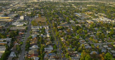 Aerial Over Los Angeles Area Suburbs,Freeways