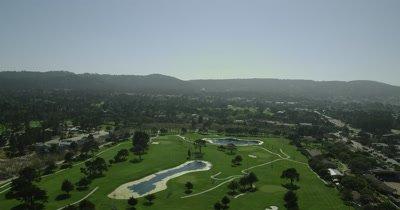 Aerial Over Big Sur California Coast,Golf Course