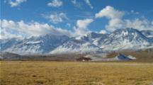 Panorama Of Sierra Nevada Mountains With Fresh Snow