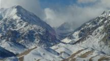 Close Up, Peaks Of Sierra Nevada Mountains With Fresh Snow