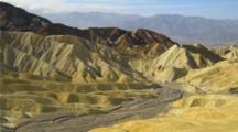 View From Zabriskie Point  With Colorful Hills