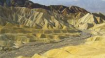 View From Zabriskie Point, Pan From Dry Stream Bed