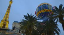 Las Vegas Strip, Evening Near Bellagio Casino