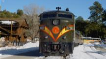 Train Parked At Grand Canyon Depot In Snow