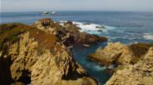 Looking Down Into Narrow Cove On California Coast