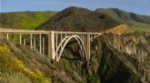Close Up Zoom Bixby Bridge In Big Sur