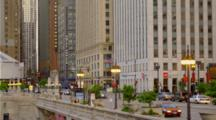 Traffic On Michigan Ave In Chicago