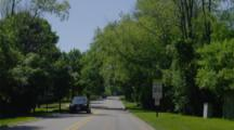 POV Driving In Residential Neighborhood, Lake Forest, IL