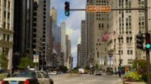 Chicago, Michigan Avenue with Traffic