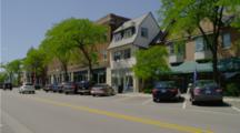 downtown street in Lake Forest, Illinois