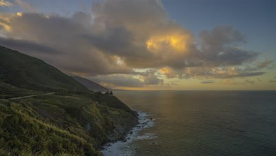Time lapse of the sunset at Big Sur, CA