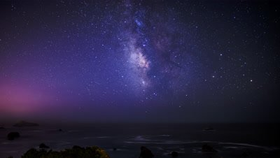 Time lapse of the Milky Way at Brookings, Oregon