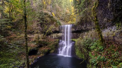 Time Lapse of the Lower South Falls at Silver Falls State Park, Oregon